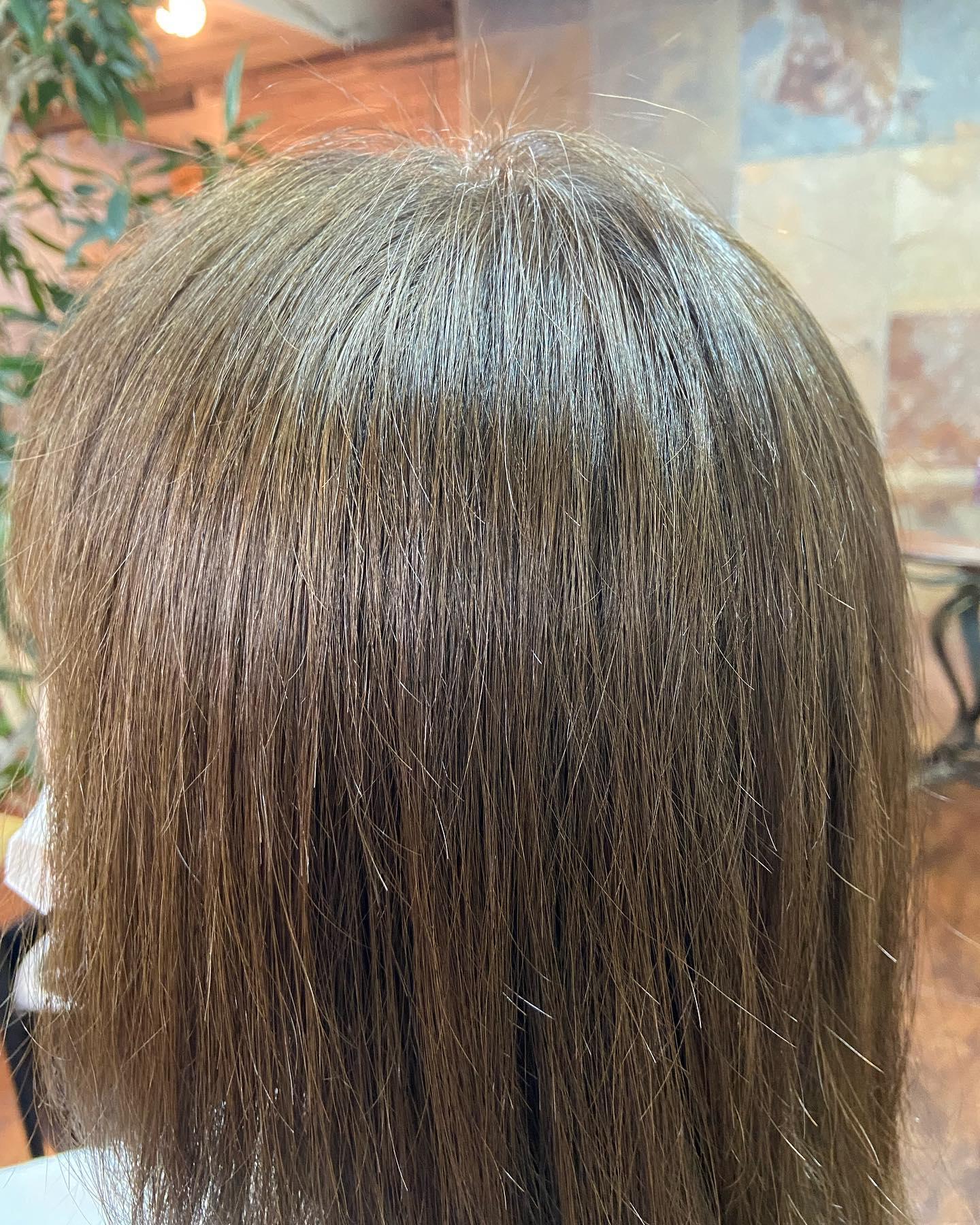 白髪染めカラー♪今回は明るめのブラウンをいれてナチュラルに仕上げました!カラーモデル募集中ですのでミニモからぜひご予約よろしくお願いしたします🏻♂️アシスタント 関口#宇都宮#美容室#宇都宮美容室#駅東#mayquark#メイクォーク#カット#カラー#カラーモデル#白髪染め#おしゃれ染め#ミニモ